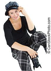 Female photographer smiling
