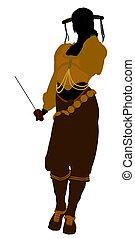 Female Pirate Silhouette - A Female pirate silhouette on a...