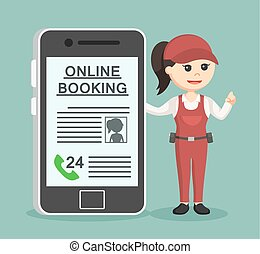 female plumber online booking