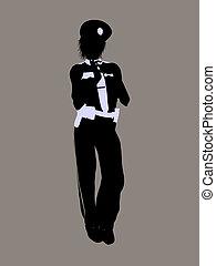 Female Police Officer Illustration Silhouette - Female...
