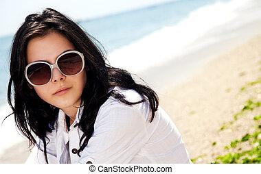 Female portrait beach