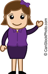 Female Presenter - Business Cartoon