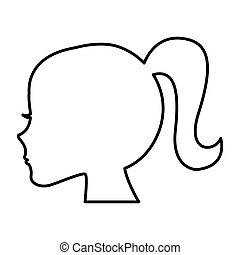 female profile silhouette icon