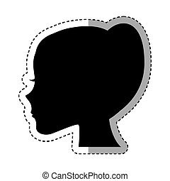 female profile silhouette icon