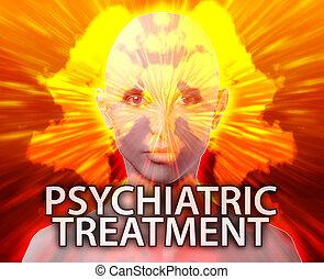 Female psychiatric treatment mental health rorschach inkblot...