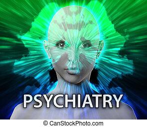 Female psychiatry mental health rorschach inkblot concept