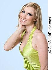 Female radiant smile