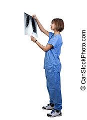 Female Radiologist - A beautiful female radiologist...