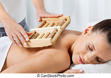 Female Receiving Back Massage