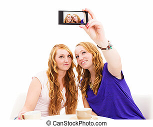 friends making photos of themselves