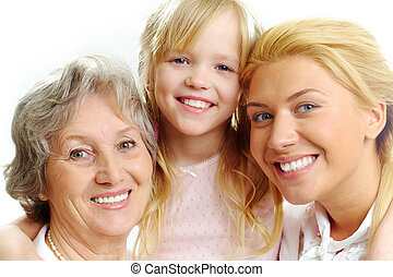 Female relatives - Photo of little girl with her grandmother...