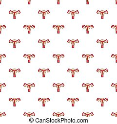 Female reproductive system pattern seamless