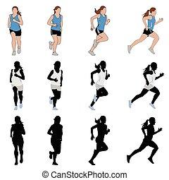 female runner - vector