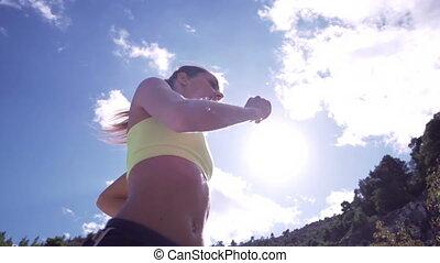 Female Running In Slow Motion