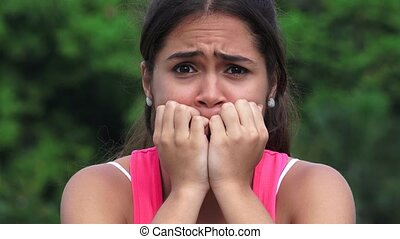Female Sadness Fear Stress Worry