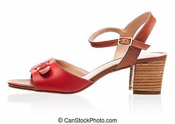Female sandal isolated over white