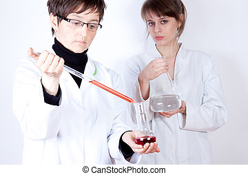 Female scientists in laboratory