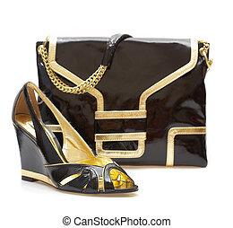 Female shoes and handbag