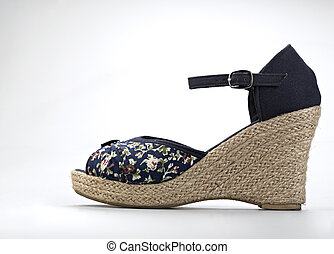 Female shoes in fashion concept isolated