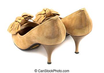 Female shoes isolated on white