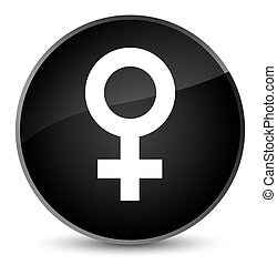 Female sign icon elegant black round button