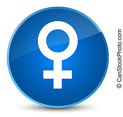 Female sign icon elegant blue round button