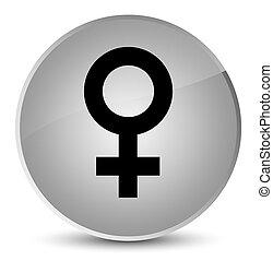 Female sign icon elegant white round button