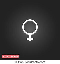 female sign icon.