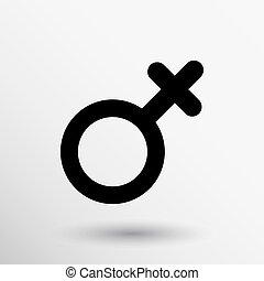 Female sign icon woman gender vector feminine