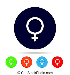 Female sign icon. Woman sex button.