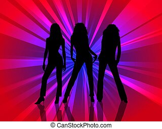 Female silhouette background