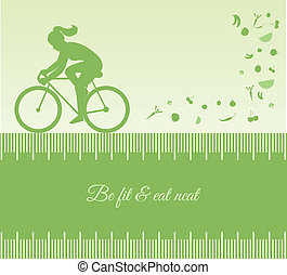 Female silhouette cycling