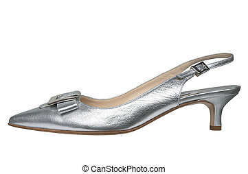 Female silver shoes