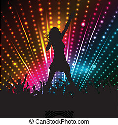 Female singer - Silhouette of a female singer performing in...
