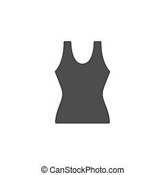 Female singlet glyph modern icon