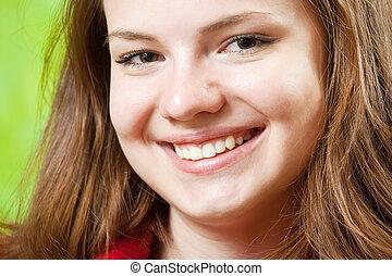 female smiling face