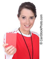 Female soccer referee