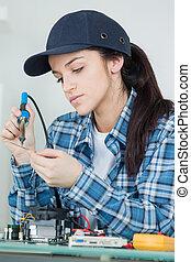 female soldering iron computer parts