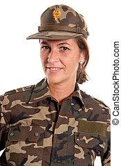 Female soldier portrait