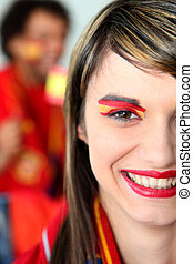 Female Spanish football fan