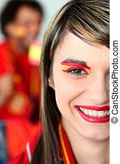 Female Spanish football fan