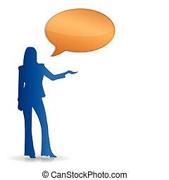 Female speaking