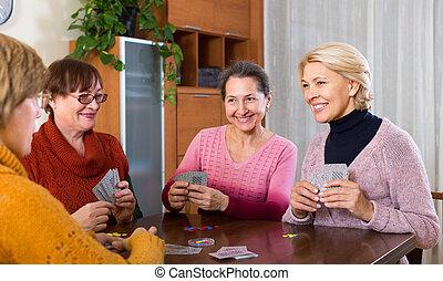 female staking money during bridge