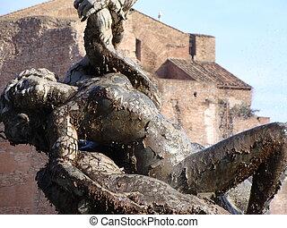 Female statue, Rome