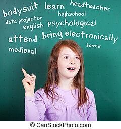 Female student - Conceptual portrait of female student...