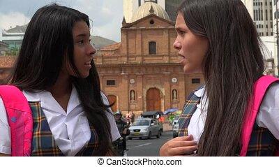Female Student Friends Meet