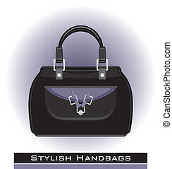Female stylish handbags. Icon