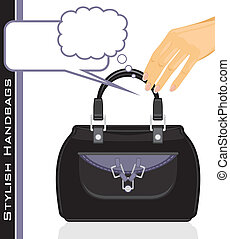 Female stylish handbags