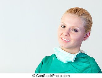 Female Surgeon smiling