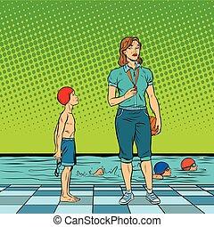 Female swimming coach disgruntled student
